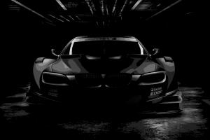 car black monochrome