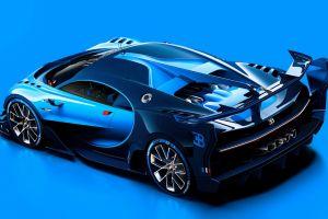 car blue cars bugatti vision gran turismo vehicle bugatti