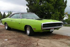 car dodge charger green cars
