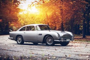 car fall sunset aston martin db5 aston martin