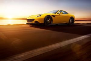 car ferrari california t road sunset novitec rosso