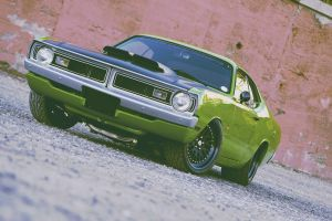 car muscle cars vehicle green cars