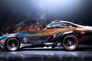 car smoke artwork super car  digital art