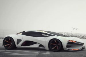 car white cars supercars lada concept cars