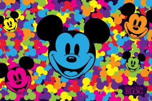 cartoon colorful mickey mouse