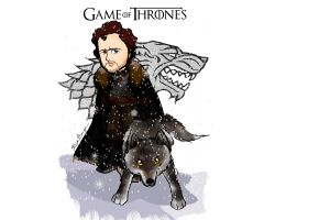 cartoon game of thrones robb stark