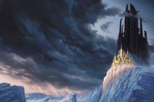 castle illustration christophe vacher fantasy art