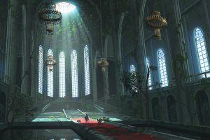 cathedral building fantasy art artwork