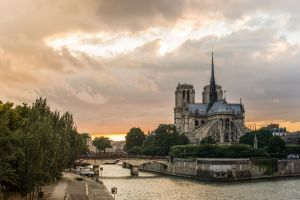 cathedral old building notre-dame city france paris