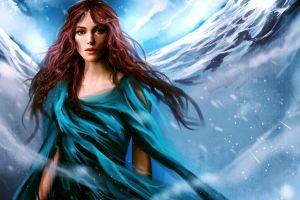celebrity women artwork long hair fantasy girl keira knightley