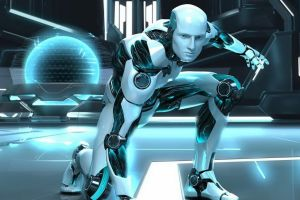 cgi digital art androids cyborg robot science fiction