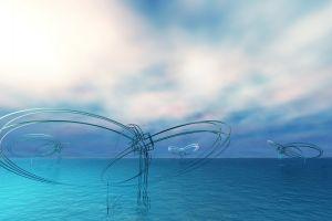 cgi water structure digital art