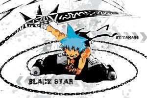 chains blackstar anime soul eater blue hair