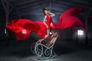 chair dress model women