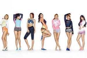 chanmi women seolhyun asian redhead brunette korean aoa k-pop jimin choa group of women band short shorts