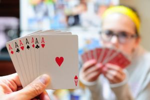 cheating depth of field playing cards cards aces