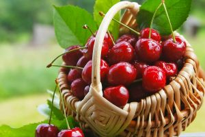 cherries (food) baskets fruit food