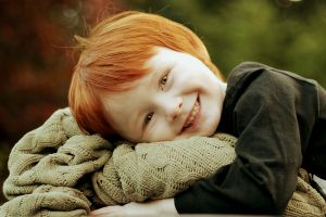 children baby redhead smiling