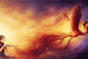 children fantasy art artwork phoenix
