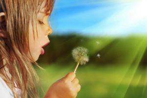 children flowers plants