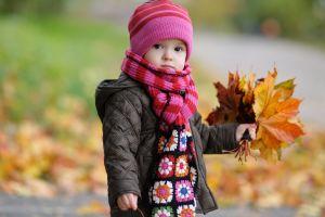 children leaves outdoors