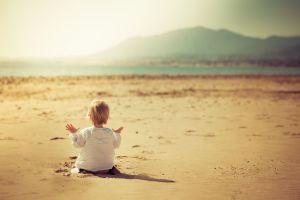 children sand beach baby