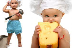 children simple background white background cheese