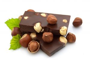 chocolate white background food sweets nuts