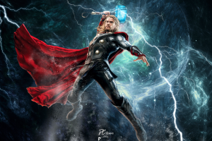 chris hemsworth thor marvel comics mjolnir lightning comics