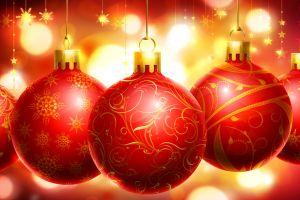 christmas ornaments  colorful christmas lights