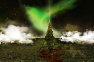christmas tree digital art sky night sky
