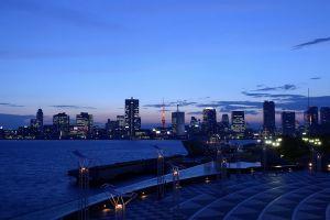 city lights dusk city tokyo cityscape