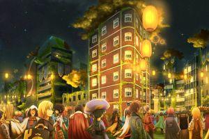 city log horizon anime night