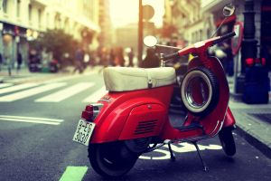 city numbers urban red motorcycle street vehicle