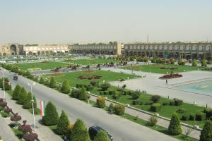 city town square park isfahan iran
