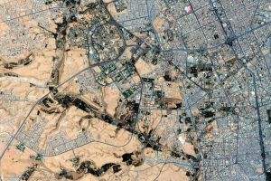 city urban earth landscape aerial view