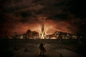 city video game art video games fallout: new vegas pc gaming