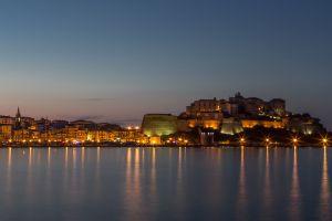 city water lights harbor