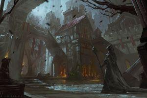 cityscape fantasy art fantasy city