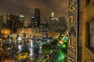 cityscape los angeles night city