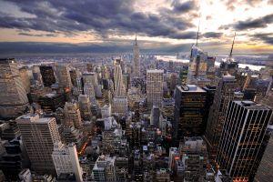 cityscape new york city skyscraper