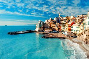 cityscape sea city beach cinque terre italy