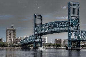 cityscape trees bridge river metal clouds building usa yacht architecture jacksonville city ship florida