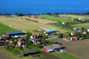 cityscape villages aerial view