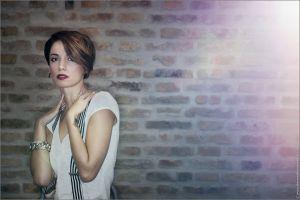 cleavage brunette tattoo sensual gaze andrea delogu