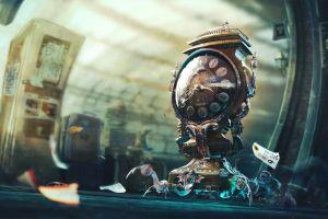 clocks fantasy art surreal artwork