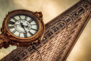 clocks flatiron building  new york city