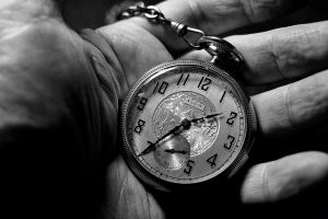 clocks watch numbers hands monochrome