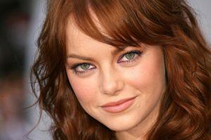 closeup actress women emma stone redhead