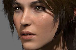 closeup rise of the tomb raider women video games face lara croft tomb raider